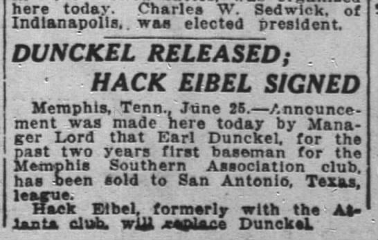 Earl Dunckel 1915 ball player