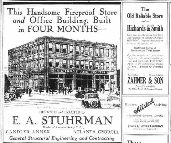 Zahner Building 15Nov1922 - 1 nis Handsome Fireproof Store and Office...