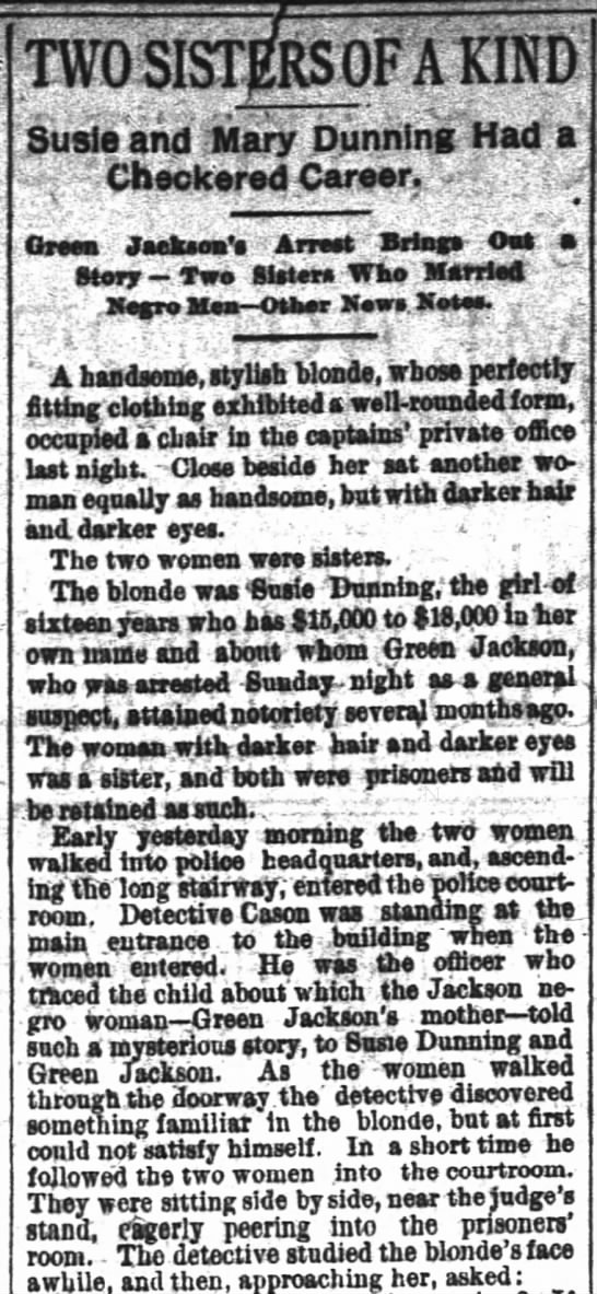 """Two Sisters of A Kind- The Atlanta Constitution (Atlanta, Georgia) 28 February 1888 - r-rl r rl r-rl r rl r-rl r rl -if if , """" -if if..."""