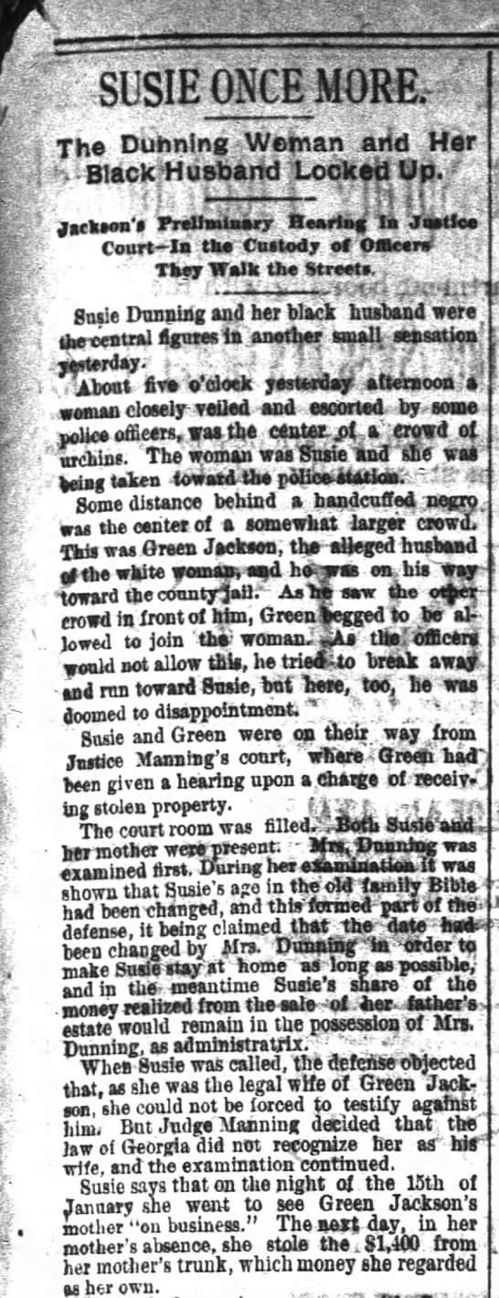 Susie Once More - The Atlanta Constitution - March 7, 1888 - 4 V- V V- V ---V-'Tf V 'Tf Tf ---V-'Tf V 'Tf Tf...