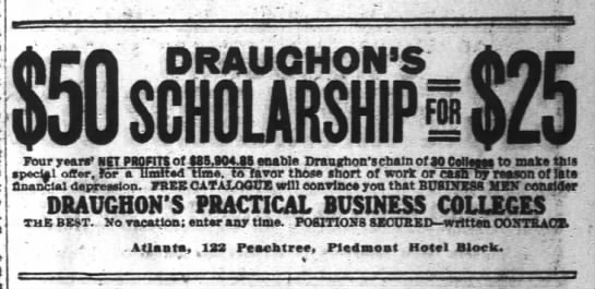 Draughon's Practical Business College  Apr 4th 1908 by Bobby Porter - I DRAUGHON'S DRAUGHONS DRAUGHON'S DRAUGHONS...