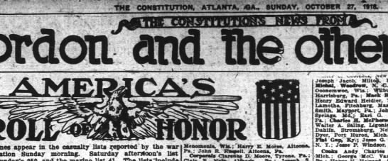 America's Roll of Honor Atlanta Constitution 27 Oct 1918  List of names - otdoti and dnd' dnd and dnd' dnd and dnd' dnd...