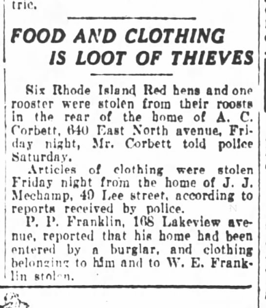 Atlanta Constitution March 18 1923 - eccentric. FOOD AND CLOTHING IS LOOT OF THIEVES...