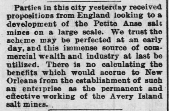 The Times-Picayune (New Orleans) July 3, 1874 - Parties in this city yesterday received...