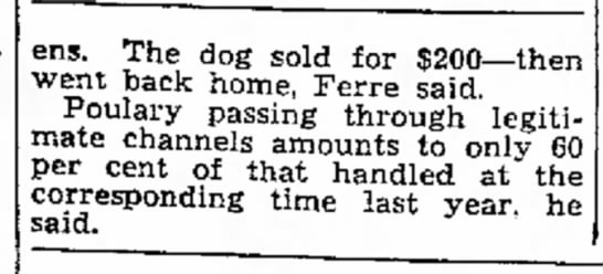 30 May 1945 part 2 - ens. The dog sold for $200--then went back...