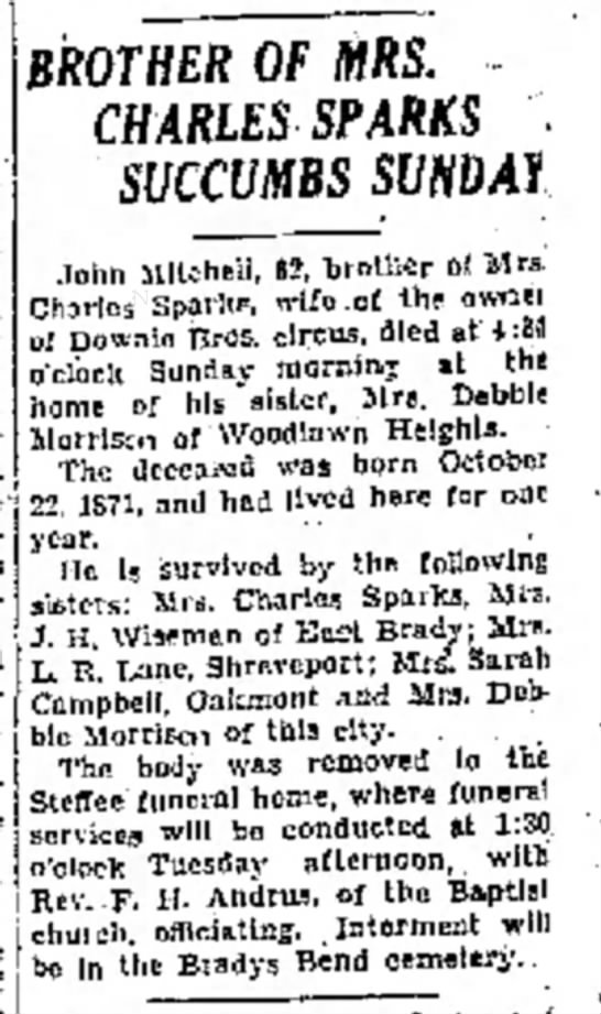 Sparks Bro In Law Obit 