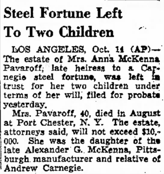 Anna McKenna Pavaroff - in Vila enemy And term new to the Steel Fortune...