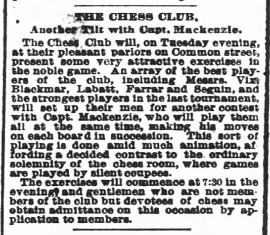 "- . "" - THE CHESS CLUB. Another 3Hit with Cant...."