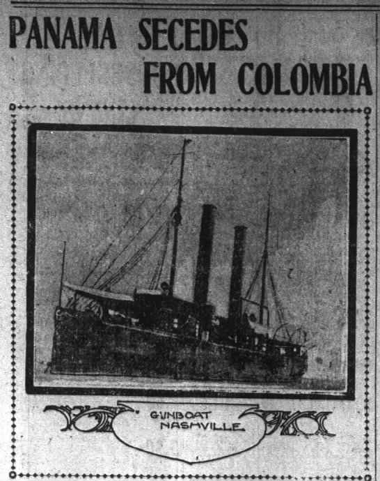 Panama Secedes From Columbia Part 1 - - r im Jl PANAMA jVCTCIlEC 5 f FROM COLOMBIA j...