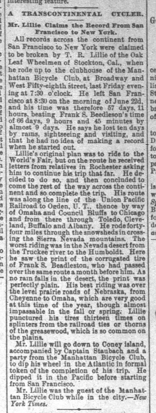 Lillie, SF Chron, 2 Sept 1893, p. 11:3