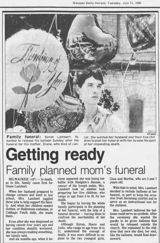 1989 Story Diane Lambert