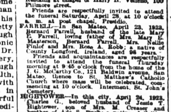 Farrell/Finlof SF Chronicle