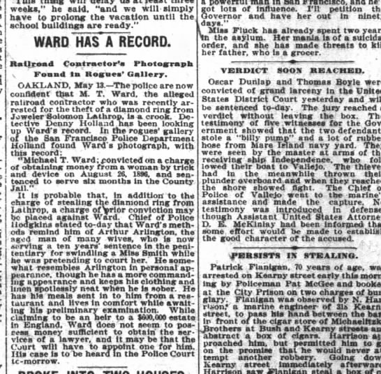 1902-5-14 San Francisco Chronicle - weeks he said and we ifrill - simply have to...