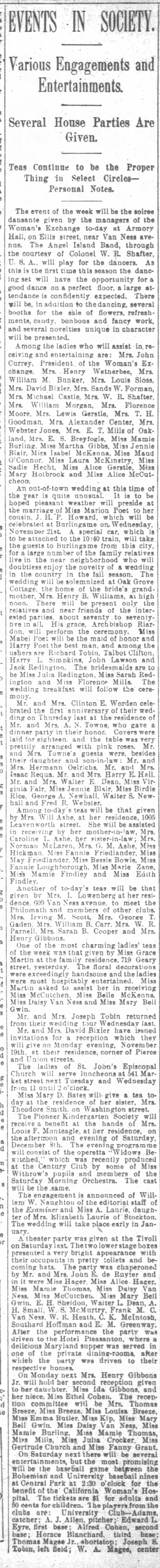 11/10/1894 - BCC Wedding Spcial Event - a a a - EVENTS - IN Various Engagements and...