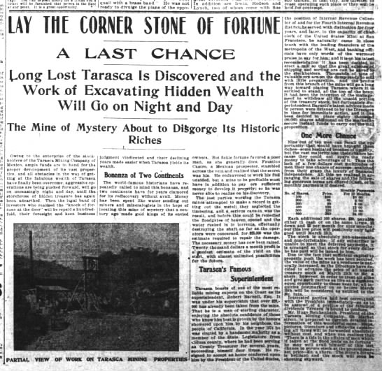 TARASAC OTRO REPORTE MAR 1903 - in - - is a of of - ticket will be fnrnlaned...