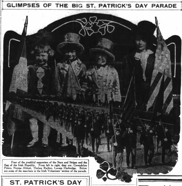St Patrick's Day Parade, 1917