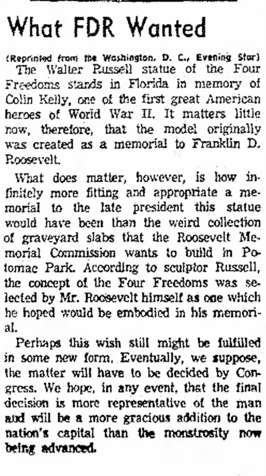 The Corpus Christi Caller-Times (Corpus Christi, Texas) 27 January 1962  Page 4 - and at Prm Dally W.SO; month* wtm. What FDR...
