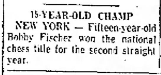 15-Year-Old Champ - A L 15-YEAR-OLD CHAMP NEW YORK - Fidecn-j...