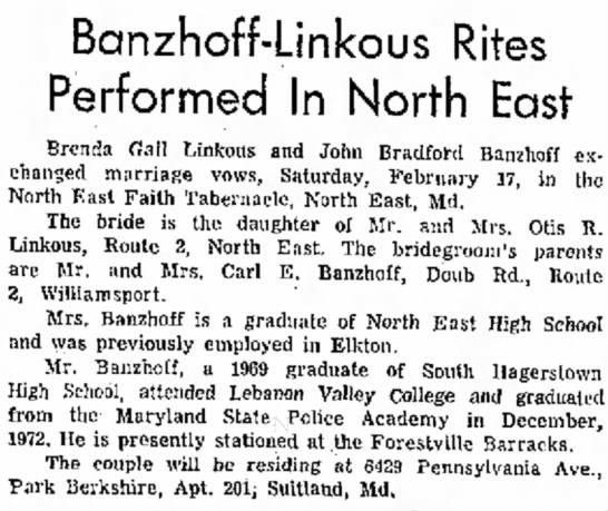 - Banzhoff-Linkous Rites Performed In North East...