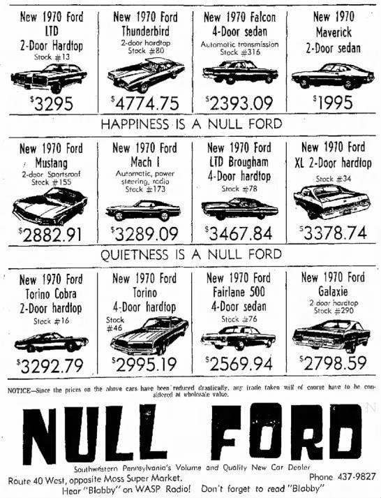 Ford Thunderbird - New 1970 Ford LTD 2-Door Hardtop Stock #13 3295...