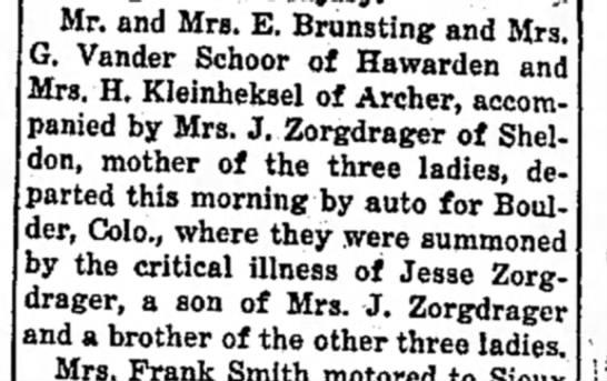 Zorgdrager-Brunsting 1931 - Mr. and Mrs. E. Brunsting and Mrs. G. Vander...