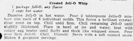 Crested Jell-o Whip