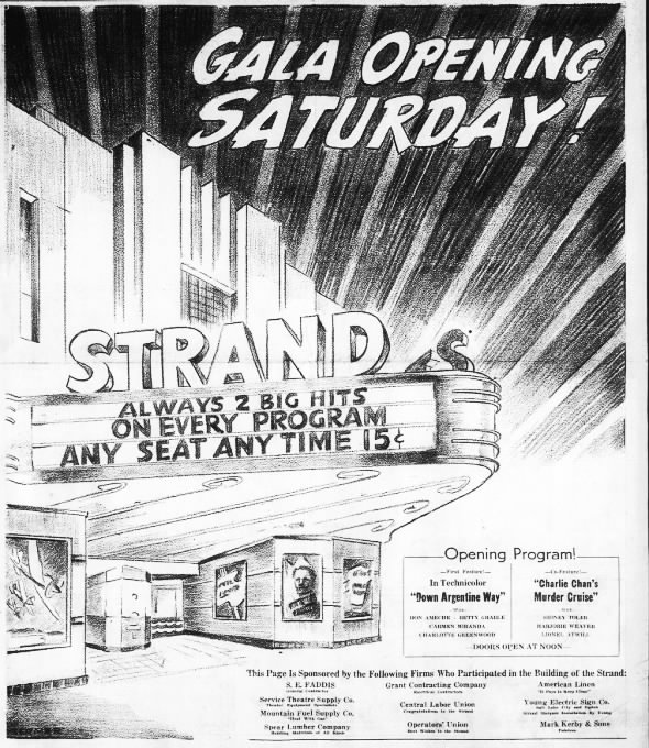 Strand theatre opening