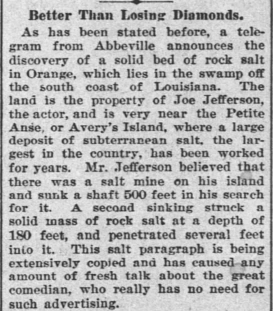 The Times-Picayune (New Orleans) March 30, 1895 - Better Than Losinsr Diamonds. As has been...