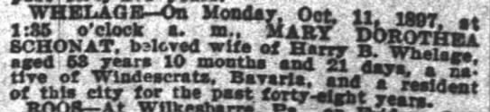 """Times PicayuneOctober 17, 1897 - WHELAGB On Monday, Oct. 11. """"ibot 1:X5 !..."""