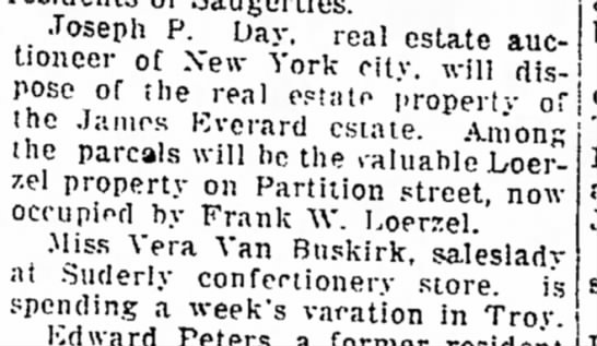 10 April 1916 - Joseph P. Day. rea i estate auctioneer...