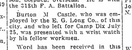 - S9 Jr., the 318th F. A. Battalion. Burton M...