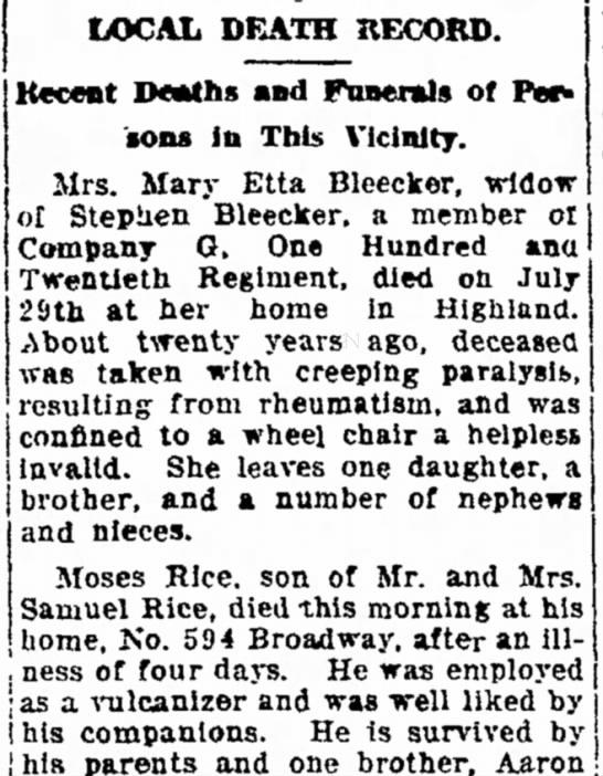 STEPHEN BLEECKERS WIFE 1916