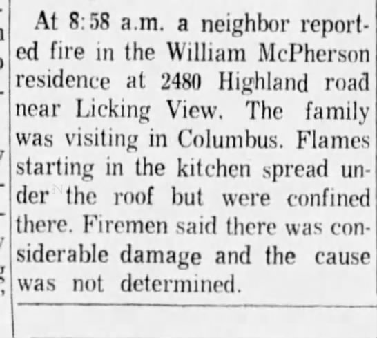 - At 8:58 a.m. a neighbor report ed fire in the...