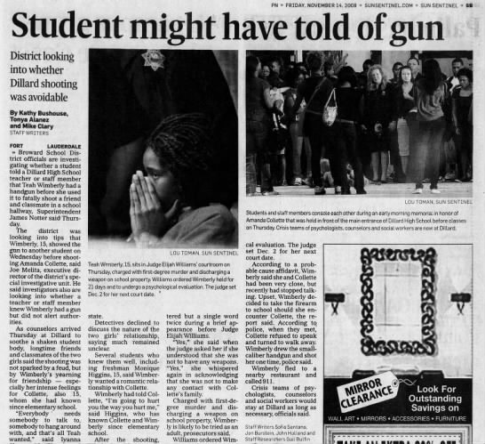 11/13/2008 Dillard HS, Fort Lauderdale FL - PN FRIDAY, NOVEMBER 14. 2008 SUNSENTINEL.COM...