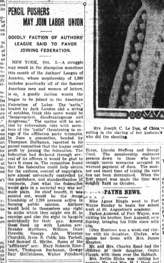 Fort Wayne Daily News, 10/3/1916, p. 5 - the - The of oil of Is as required requesting...