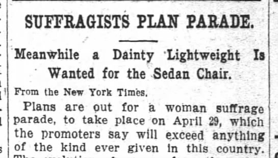 1911 03 30 the wasington post p4 SUFFRAGISTS PLAN PARADE - SUFFRAGISTS PLAIT PARADE Meanwhile a Dainty...