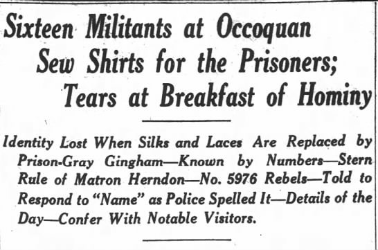 - Sixteen Militants at Occoquan Sew Shifts for...