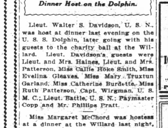 Dinner on the Dolphin Wpost 1/11/16