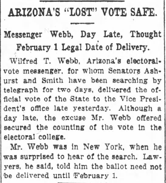 "Arizona's ""Lost"" Vote Safe"