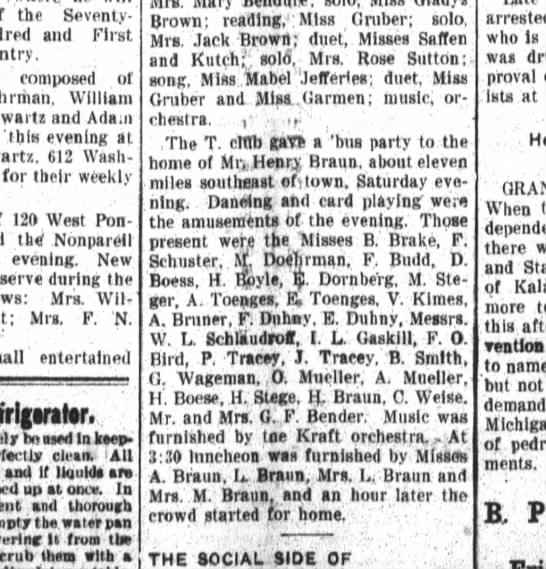 R A.Toenges,E.Toenges, The Fort Wayne Daily News, Wed. Sept. 30, 1908, p.2 - the Seventy - and First composed of Ehrrhah...