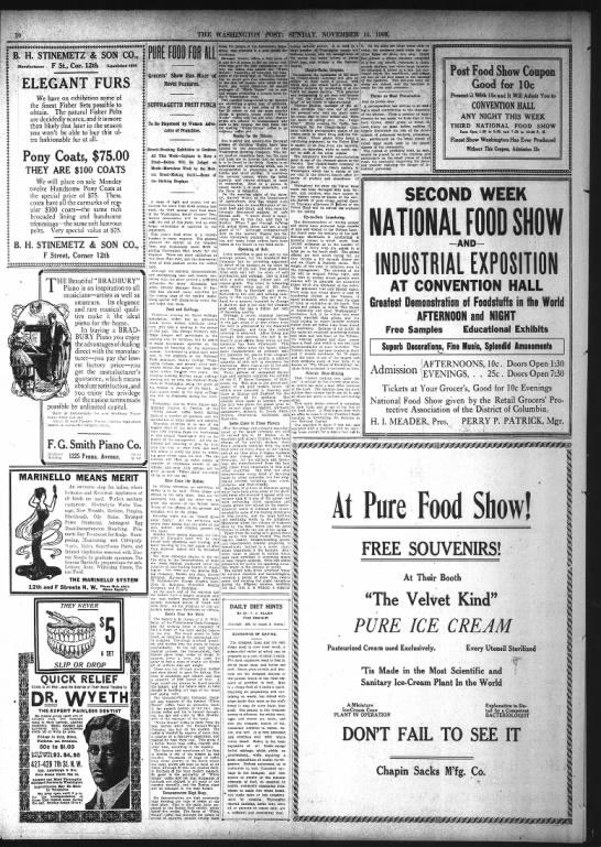 Holzbeierlein Bakery in Pure Food Show  on Nov 14 1909 - 3T T - 44ihJm V 1 - IS 4 - V mhmW...