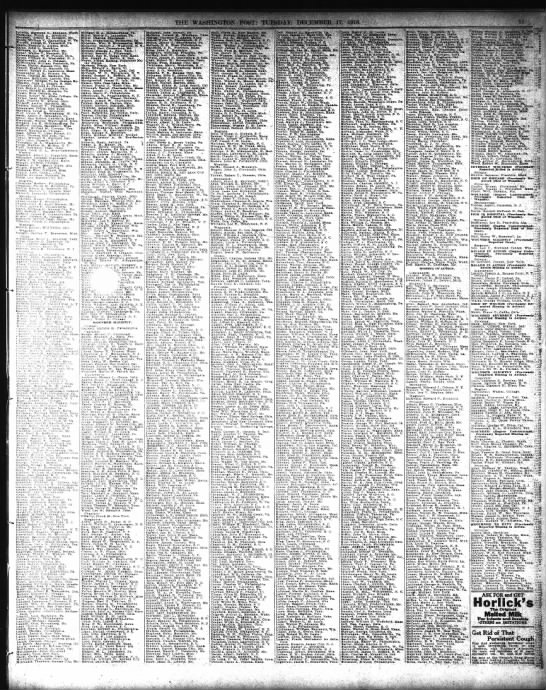 The Washington Post (Washington, DC  Listed War names 17 Dec 1918