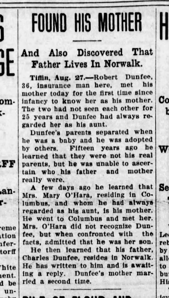 Mary Wooley O'Hara - 27 Aug 1915 News-Journal (Mansfield) saved - Com- Sink- Lan- Lan- unaer-standing White be...
