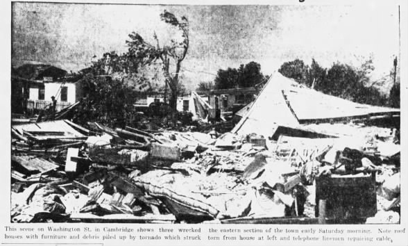 Cambridge Tornado Damage