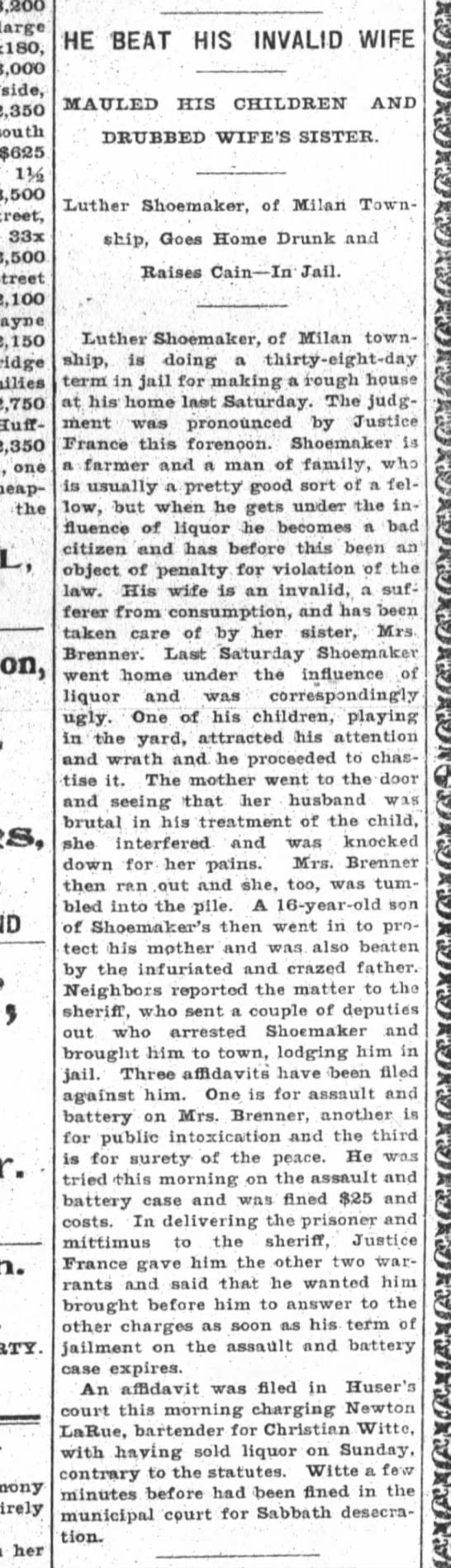 The Fort Wayne Sentinel, Ft. Wayne, IN 11 Nov 1901