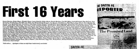 Lynda Sparber staff of SF Reporter - First 16 Years Bonnie Martinez, Robert Mayer,...