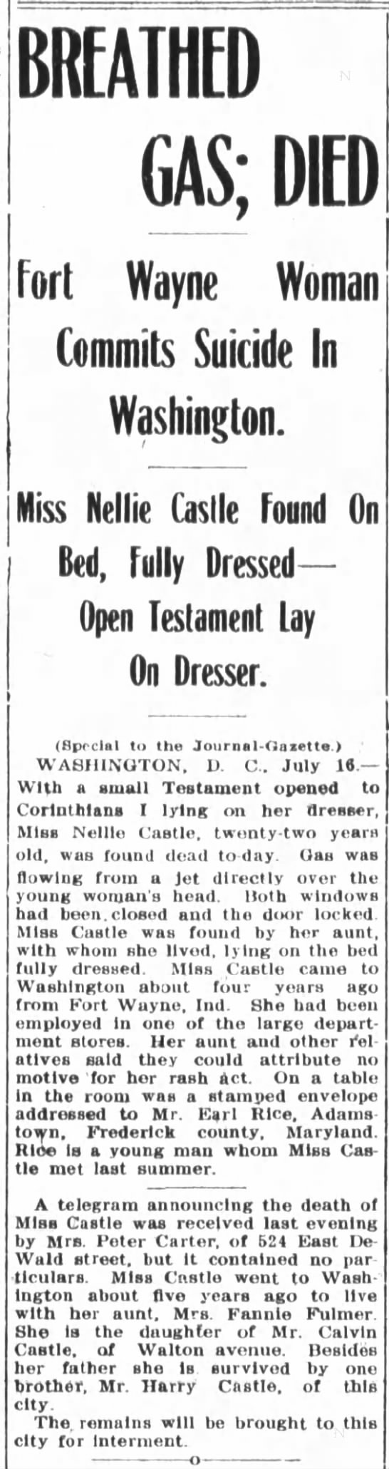1907 Jul 17 Castle, Nellie