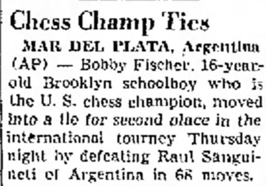 Chess Champ Ties - Masters their Chess Champ Tics MAR DEL PLATA,...