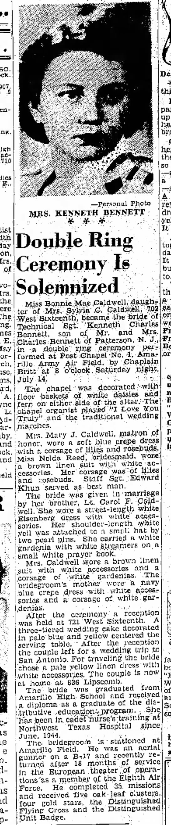 Bonnie Mae gets married