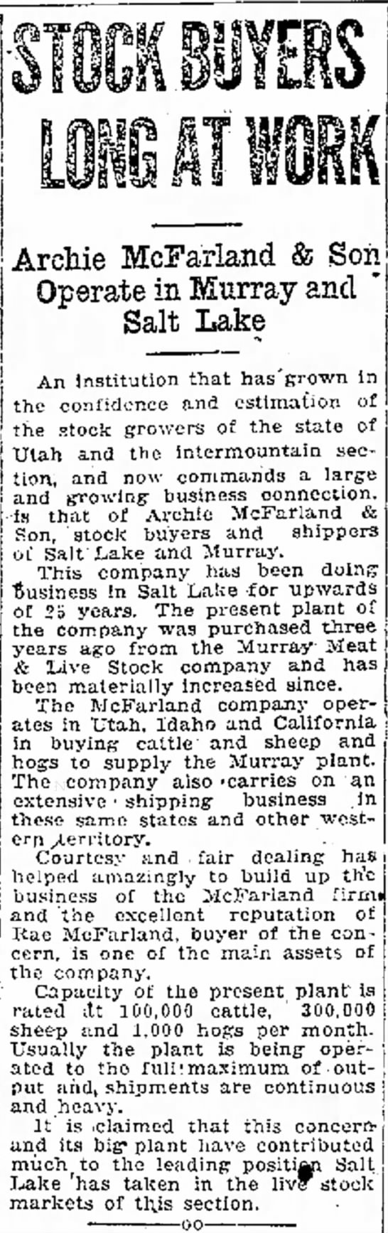 March 2 1924 Ogden Standard-Examiner - few been and Mrs. her war, Mrs. at Archie...